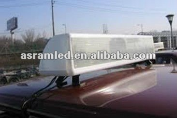 wireless control p6 16*128 led taxi roof advertising sign hot/new products alibaba express 2011