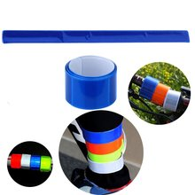 Promotional custom Reflective Wristbands Ankle Bands Slap Wraps with free sample