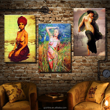 High quality sexy female nude body painting for living wall decoration