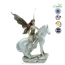 ride the horse fiber optic fairy figurines