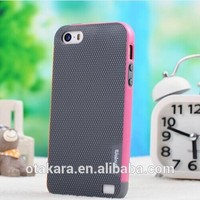 Double Color Lattice Shell Edge Moblie Phone Case for iPhone 5 5s