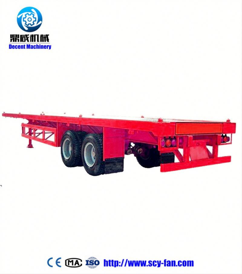 3 axles flat bed off road trailer