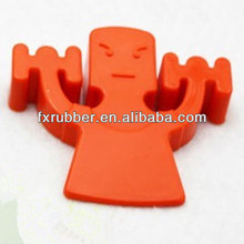 Weightlifter shaped security door guard