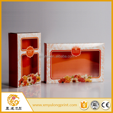 300 gsm paper box packaging hair extension packaging box with transparent pvc window