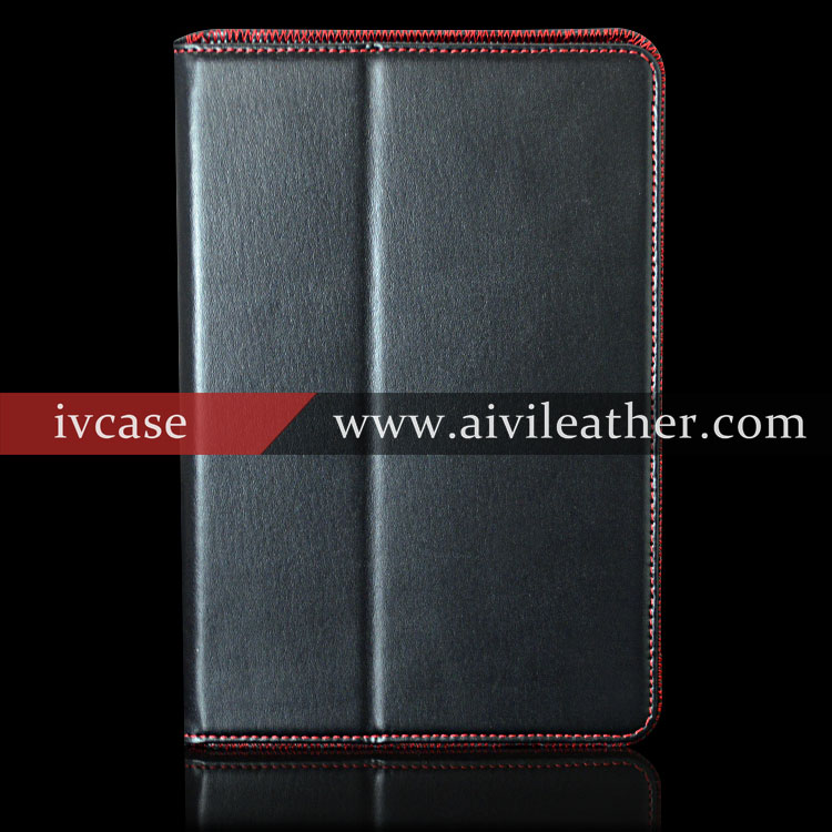 Elegant Top Quality Leather Booklet Tablet Case For Ipad Mini 4 Stand Case With Magnetic Closure