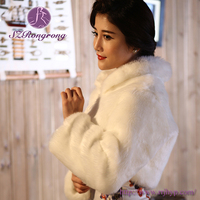 PJ14 Cheap Fashion Accessories White Faux Fur Bridal Coats and Wraps
