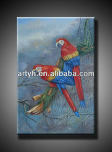 Realist Parrot Oil Painting On Canvas