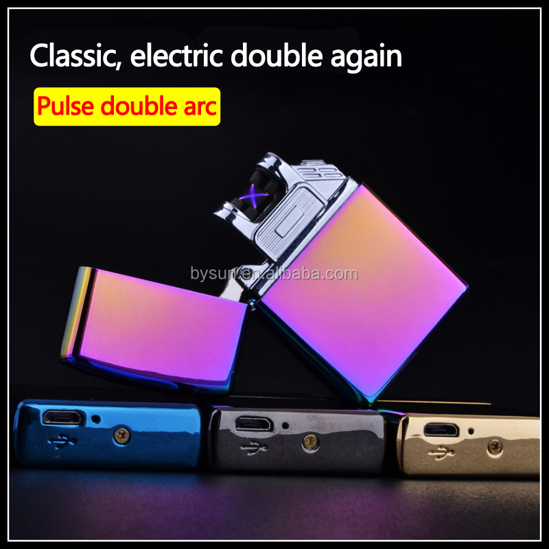 BS-1279 dual arc promotional usb electric lighter OEM lighter
