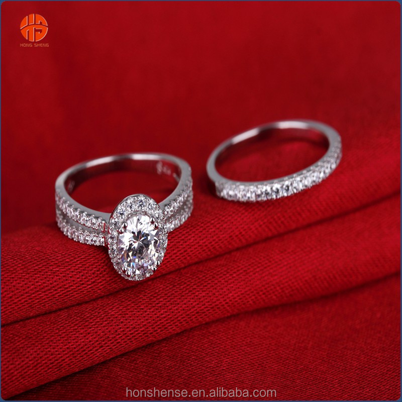 Elegant Style Moroccan Wedding Rings with Crystal