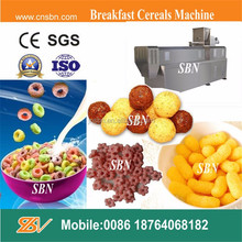 hot sale stainless steel breakfast cereals corn pops snacks making machines