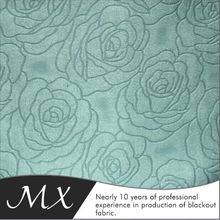 Beautiful Color Embossed Blackout Fabric for Curtain, Wall Cloth