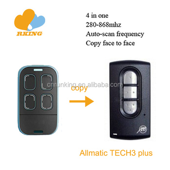 Allmatic TECH3 plus Electric gate remote control transmitter