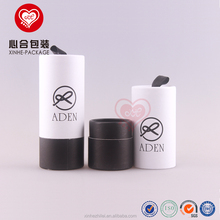 Recycled white and black paper tube/Free sample cylinder paper box with ribbon/Round essential oil packaging box with insert