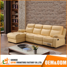 wholesale corner adjustable backrest reclining drawing room sofa set modern design new model leather sofa