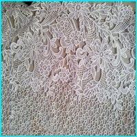 custom design embroidered lace fabric
