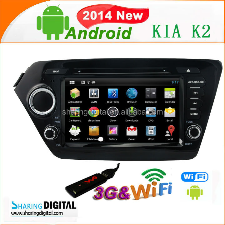 Pure android 4.2 Car navigation for K2 2011-2012 in car entertainment