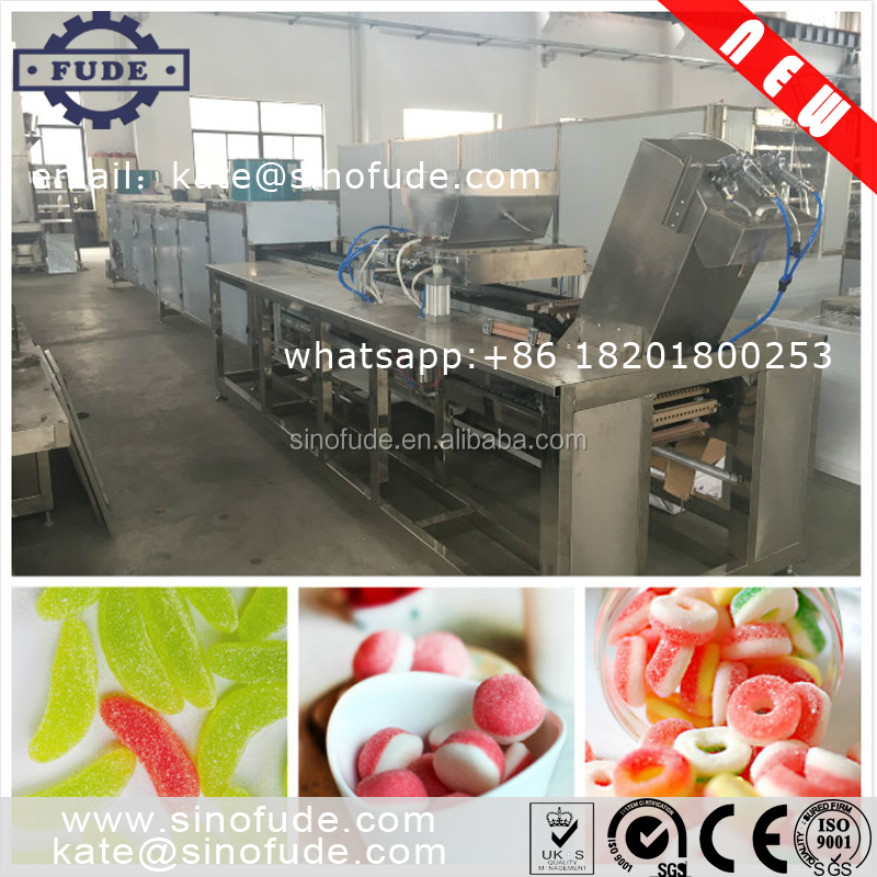 Shanghai high quality Automatic jelly gummy bear candy production line / soft / pectin candy machine /