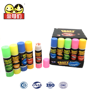 Crazy lipstick Rotatable Creative Children's Sweet Squeeze Gel jam candy