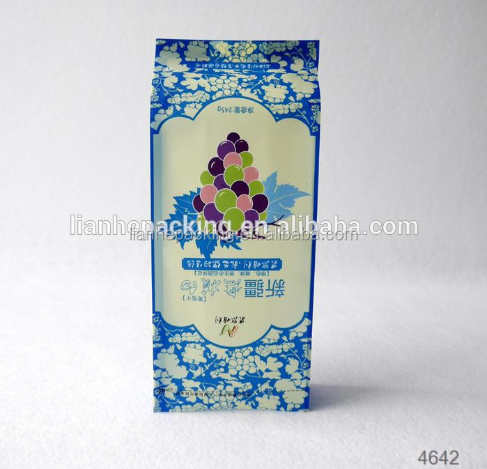 Resealable custom printed food packaging doypack with window