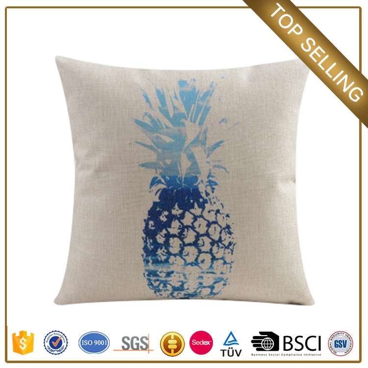 Guangzhou customize cushion cover embroidery design liberator pineapple pillow