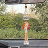 Handmade dimond crystal perfume bottle ornament/chinese bottle gourd bottle car hanging accessories