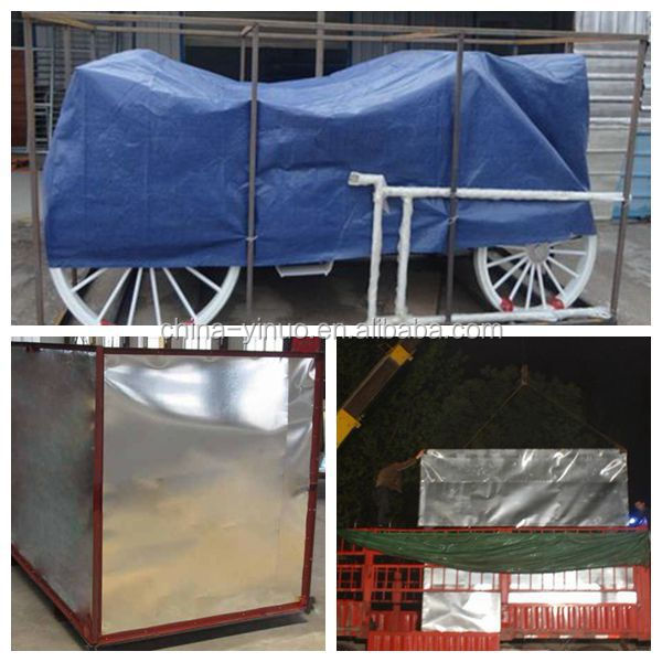 Pure handmade used sightseeing horse drawn carriage for sale can add battery