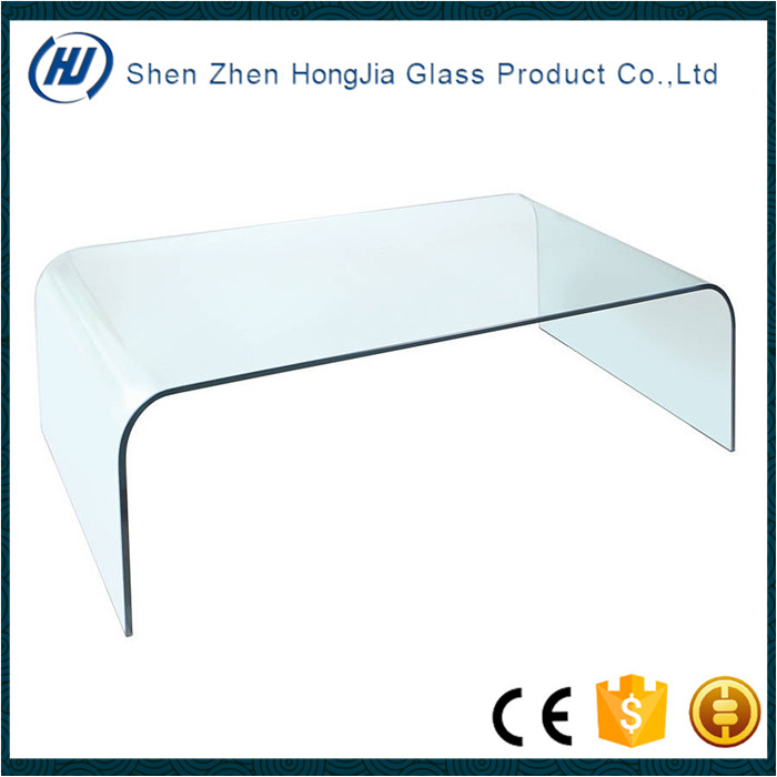 Cheap hot sale coffee table hot bent tempered glass for sale