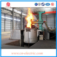 Industrial DC electric arc furnace for silicon