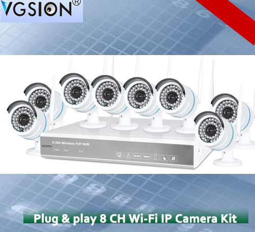 1080P 8 Channel NVR Kit, P2P Onvif 1080P NVR, Wireless IP Camera 8CH NVR 8ch Nvr 1080p Nvr Wifi Nvr Kit
