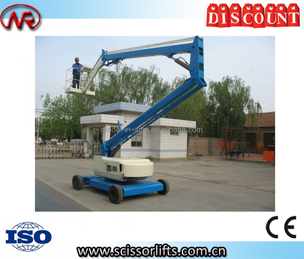 Self propelled articulated small boom lifts