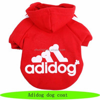 Warm coat pet dog, wholesale pet suppliers, adidog dog coat