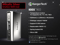 First batch ! Newest box mod kanger kbox 160 TC e cigarette vape box mods Kbox 160w