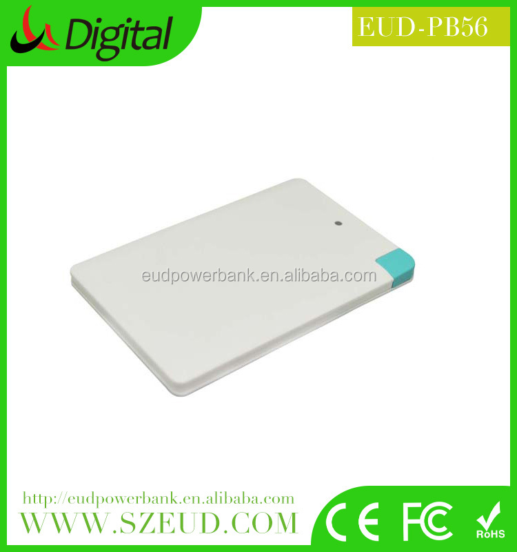 promotion super slim credit card power bank 2500-4000mah, mini gift power