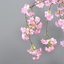 Cheap artificial flowers cherry blossom tree branches wholesale silk plastic fabric cherry blossom for sale