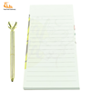 Cute new design oem sticky note memo pad with pen set logo