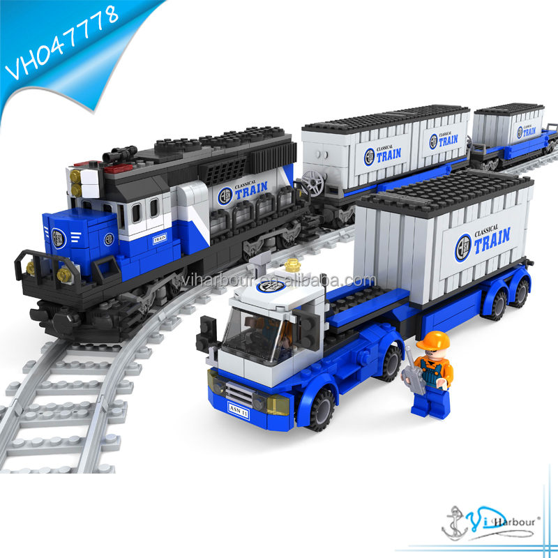 1008pcs Building Blocks Train Truck Intelligent DIY Model Car Toy