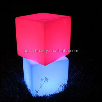 color changing waterproof illuminated led cube chair with 2000mAh rechargeable battery