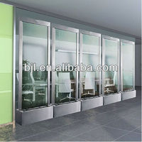 glass screen panel for room divider glass floor waterfall school home office decoration