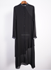 black chiffon ladies long blouse muslim women dress formal lady dress