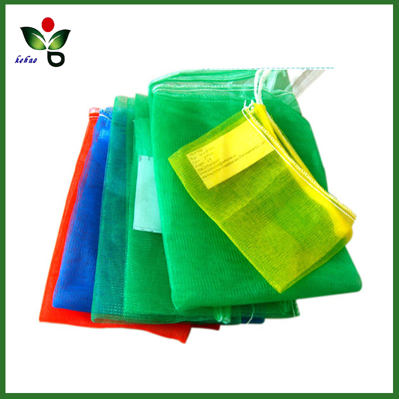 High quality HDPE small vegetables monofilament mesh drawstring net bag