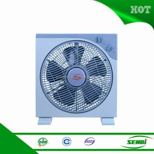 12 inch ac 220v 110v 5 pp blades crown box fan with timer