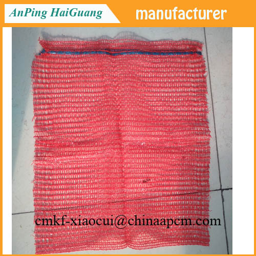 red 50x80 raschel mesh bag for packing potato onion wholesale