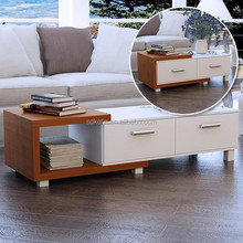 Hot selling fancy coffee table with drawers