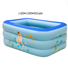 Inflatable square baby pool kids Swimming Pool