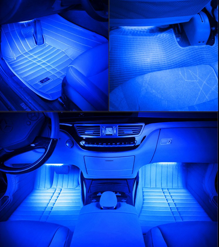 7 colors smd5050 car interior atmosphere light led. Black Bedroom Furniture Sets. Home Design Ideas
