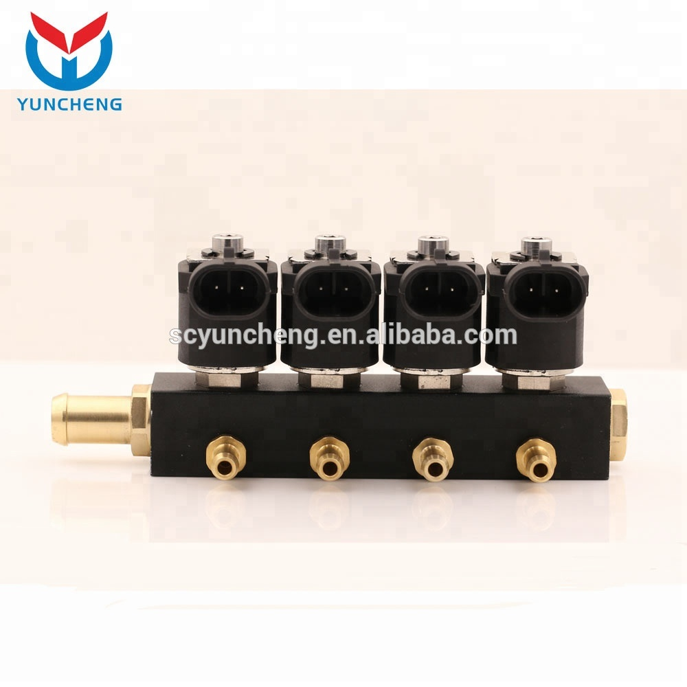 YCI03000 Powerful 4 Cyl Conversion Kit Lpg Cng Fuel Injector