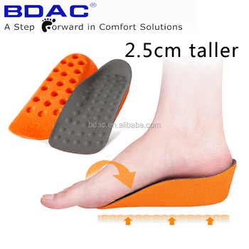 3/4 PU Foam insole height increasing arch support orthotic shoe insole