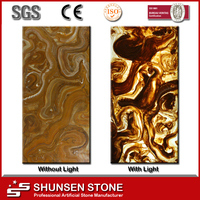 TV Wall / Bar countertop / home table top translucent artificial onxy