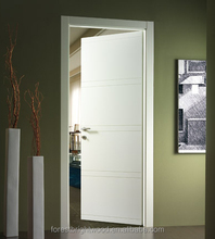 Interior room modern design white primer flush door price, cheap door