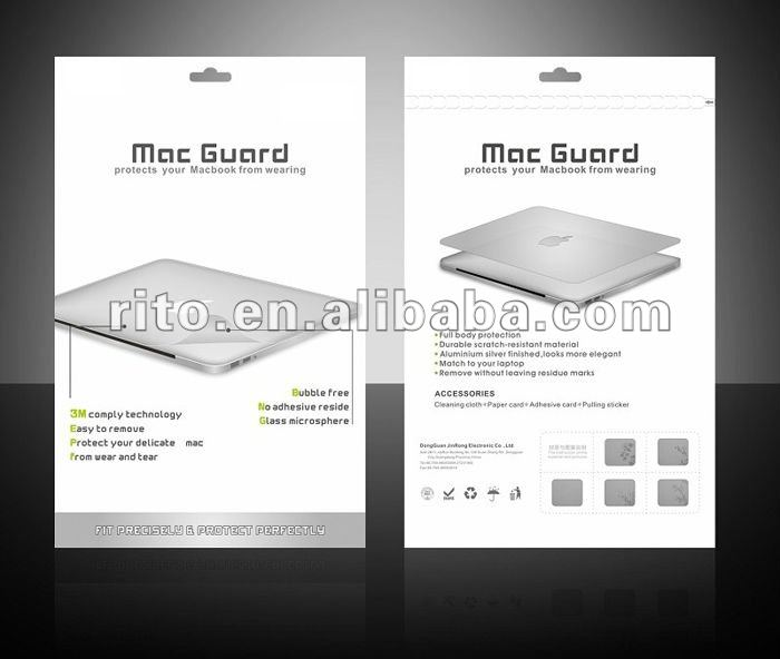 "Copy Aluminum Color Laptop Body Skin Cover Protector for MacBook New Pro 15"" inch,oem Welcome"